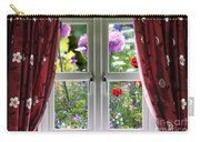 Window View Onto Wild Summer Garden Carry-all Pouch