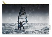 Windsurfing With Water Drops On Camera Carry-all Pouch