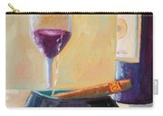 Wine And Cigar Carry-all Pouch by Todd Bandy
