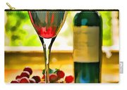 Wine And Grapes In The Window Carry-all Pouch