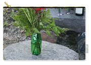 Wine And Red Flowers On The Rocks Carry-all Pouch