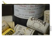 Wine And Wine Corks Carry-all Pouch by Paul Ward