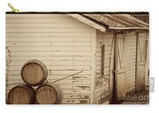 Wine Barrels And Rustic White Barn Carry-all Pouch by Juli Scalzi