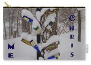 Wine Bottle Sculpture Christmas Card Carry-all Pouch