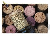 Wine Bottle With Corks Carry-all Pouch
