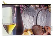Wine Bottle With Glass In Window Carry-all Pouch