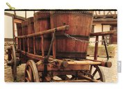 Wine Cart In Alsace France Carry-all Pouch by Greg Matchick