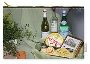 Wine Cheese And Crackers Carry-all Pouch