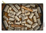Wine Corks On A Wooden Barrel Carry-all Pouch