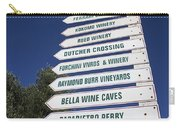 Wine Country Signs Carry-all Pouch