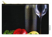 Wine For A Salad Carry-all Pouch by Elaine Plesser