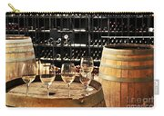 Wine Glasses And Barrels Carry-all Pouch by Elena Elisseeva
