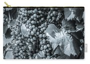 Wine Grapes Bw Carry-all Pouch