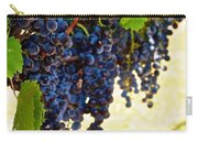 Wine Grapes Carry-all Pouch by Kristina Deane