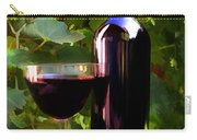 Wine In The Sunset Carry-all Pouch by Elaine Plesser