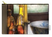Wine - Nestled In A Corner Of A Window Sill  Carry-all Pouch by Mike Savad