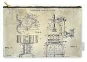 Wine Press Patent 1903 Carry-all Pouch