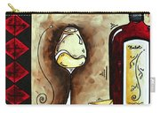 Wine Tasting Original Madart Painting Carry-all Pouch