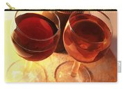 Wine Toast In Watercolor Carry-all Pouch by Elaine Plesser