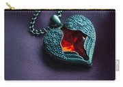 Winged Heart With Red Gem Carry-all Pouch