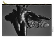 Winged Life Black And White Carry-all Pouch