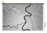 Winnipeg Street Map - Winnipeg Canada Road Map Art On Colored Ba Carry-all Pouch