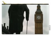 Winston Churchill Facing Big Ben Carry-all Pouch