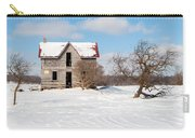 Winter Abandoned Farmouse Carry-all Pouch