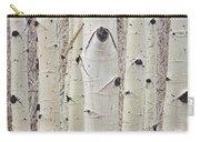 Winter Aspen Tree Forest Portrait Carry-all Pouch