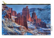 Winter At Fisher Towers Carry-all Pouch