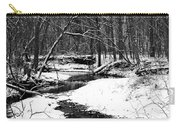 Winter At Pedelo Black And White Carry-all Pouch