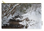 Winter At The Creek Carry-all Pouch