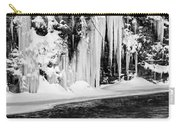 Winter At The Creek Monochrome Carry-all Pouch