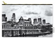 Winter At The Fairmount Waterworks In Black And White Carry-all Pouch
