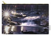 Winter At The Woodlands Waterfall In Wilkes Barre Carry-all Pouch