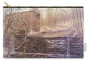Winter At Wolf Pen Mill Carry-all Pouch