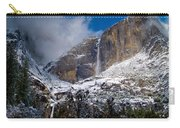 Winter At Yosemite Falls Carry-all Pouch by Bill Gallagher