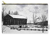 Winter Barn Impasto Version Carry-all Pouch