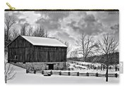 Winter Barn Monochrome Carry-all Pouch
