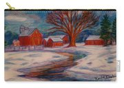 Winter Barn Scene Carry-all Pouch