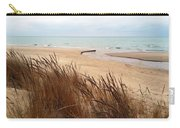 Winter Beach At Pier Cove Carry-all Pouch