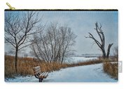 Winter Bench At Walnut Creek Lake Carry-all Pouch