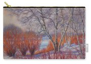 Winter Birches And Red Willows 1 Carry-all Pouch