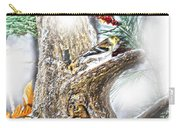 Winter Birds Christmas Card Carry-all Pouch