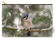 Winter Blue Jay Carry-all Pouch