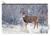 Winter Buck Carry-all Pouch by Darren  White