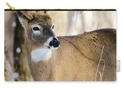 Winter Buck Carry-all Pouch by Steven Santamour