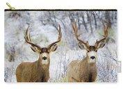 Winter Bucks Carry-all Pouch
