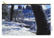 Winter Cathedral Rock Carry-all Pouch