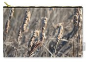 Winter Cattail Abstract Carry-all Pouch